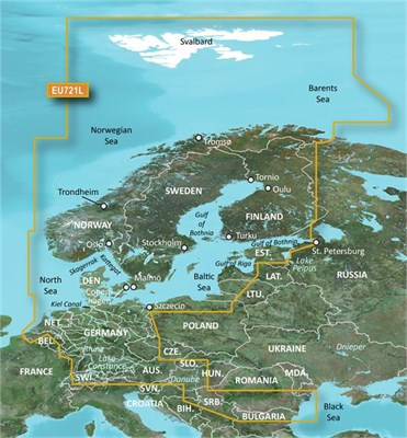 Garmin BlueChart VEU721LU g3 Vision chart Updates - Northern Europe